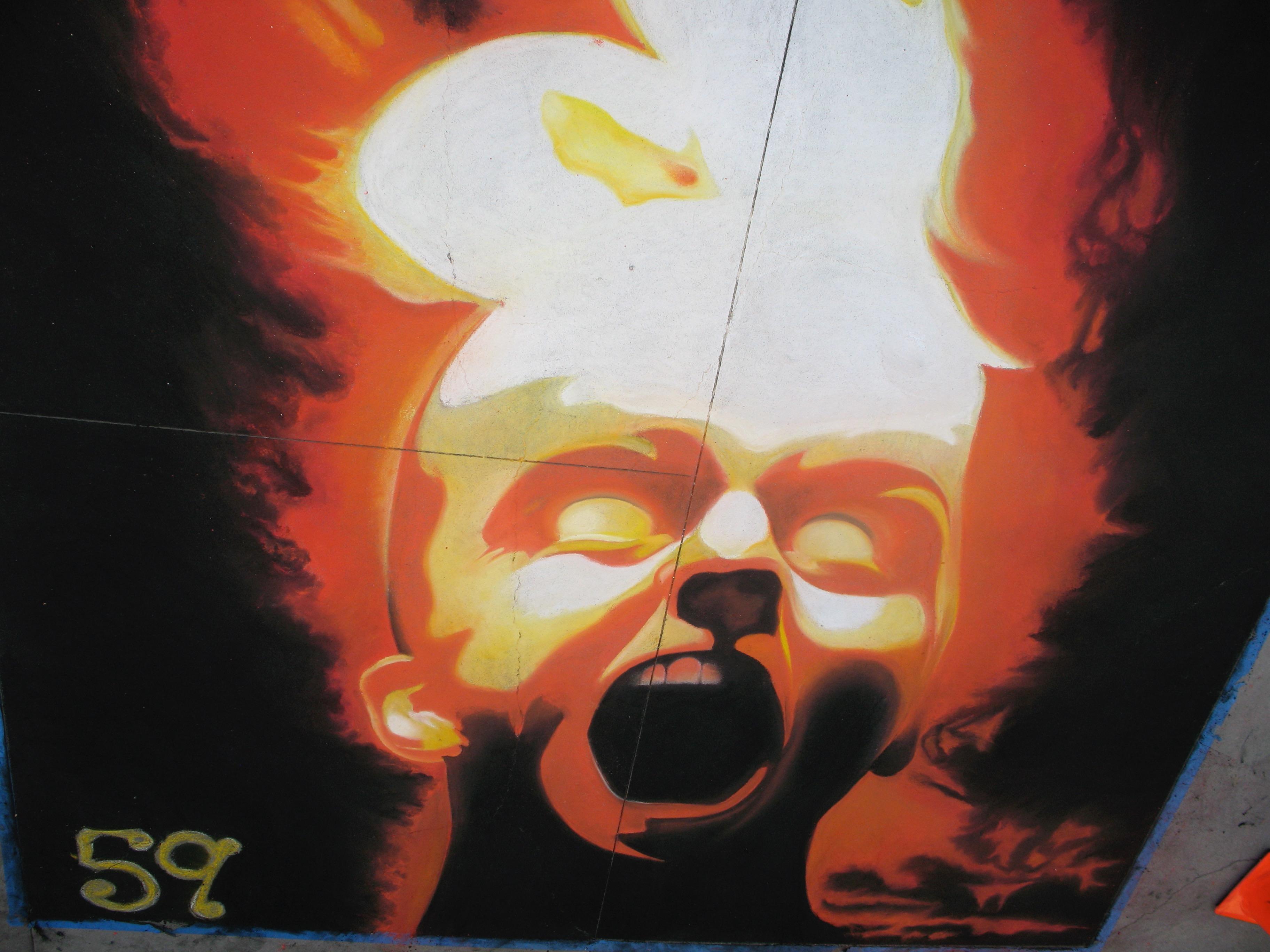 exploding chalk head